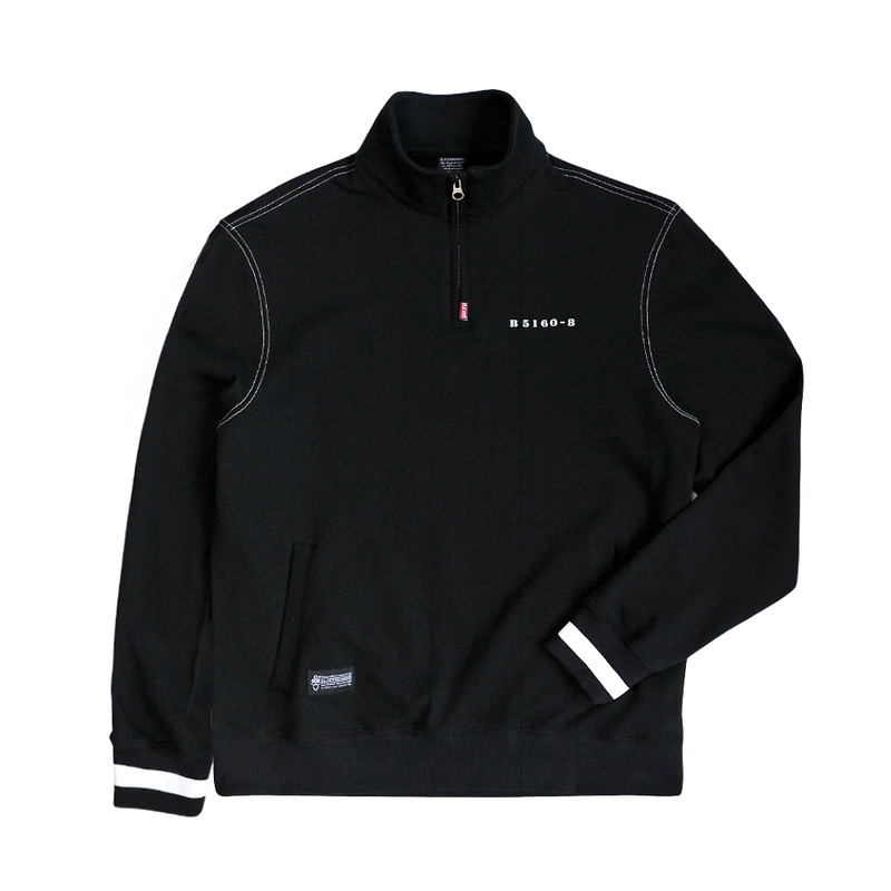 SILENCE Half zip-up(BK)