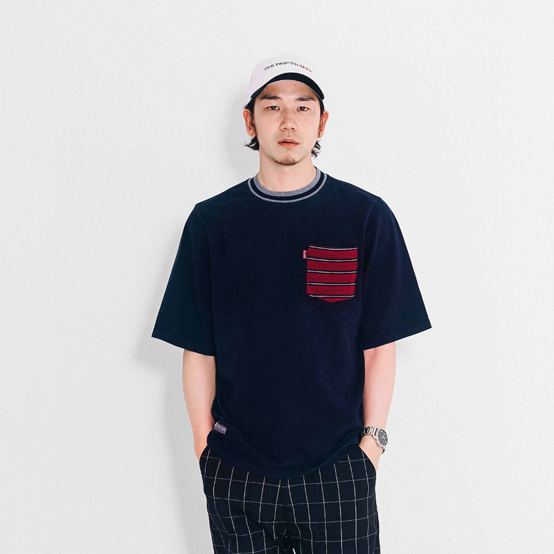 Stripe Pocket T-shirt(NV)